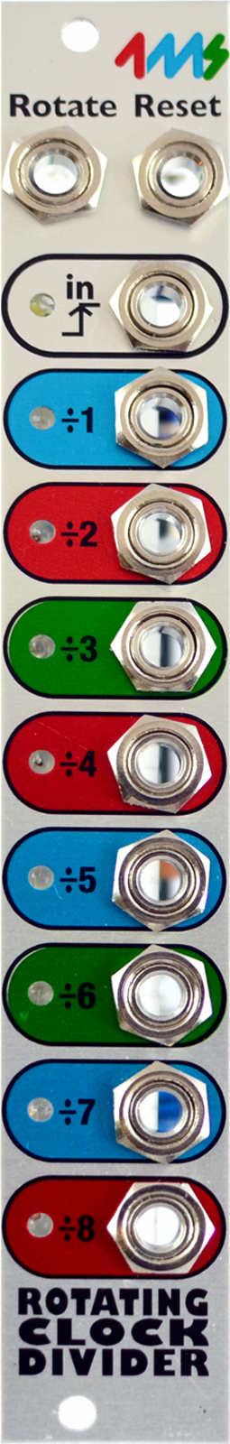 4MS ROTATING CLOCK DIVIDER V2