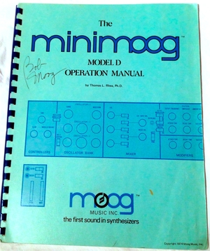 MINIMOOG MODEL D OPERATION MANUAL